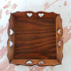 Vintage Accents - Vintage wooden tray